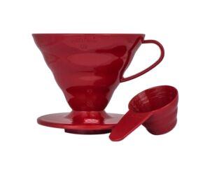 Hario V60-02 műanyag kávé csepegtető piros