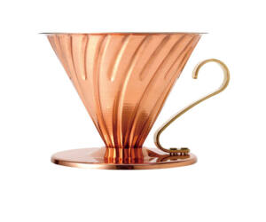 Hario V60-02 fém csöpögős kávékészítő dripper arany