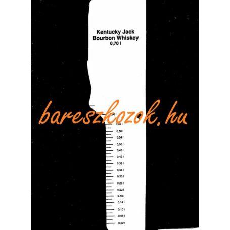 Standoló lap Kentucky Jack Bourbon Whiskey 0,7L