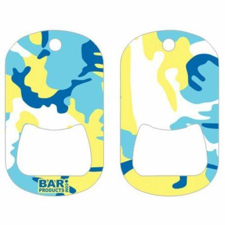 Dog tag flair nyitó Camo Blue and Yellow