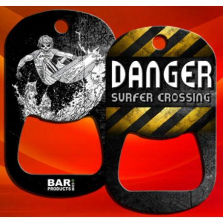 Dog tag flair nyitó Surf - Danger