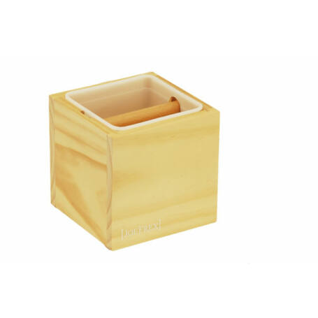 Klasszikus zaccfiók - knock box natúr fa