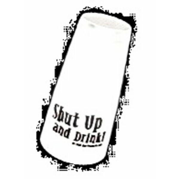 Boston koktél shaker Shut up and drink felirattal fehér