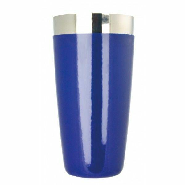Boston koktél shaker vinyl bevonattal kék