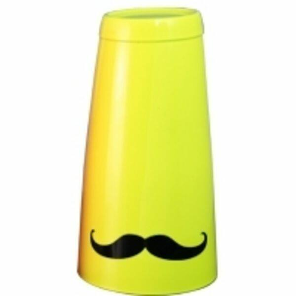 Boston koktél shaker bajusz mintával sárga