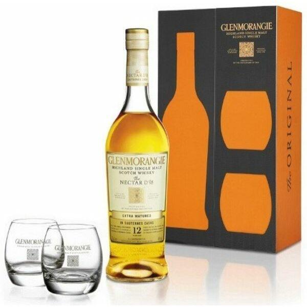 Glenmorangie Nectar Dor whisky dd. 0,7L 46% + 2 pohár