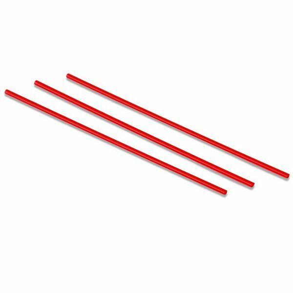 Extra vékony áttetsző piros szívószál 5mm 500db/cs