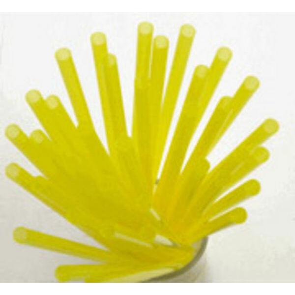 Extra vékony sárga szívószál 4mm 500db/cs