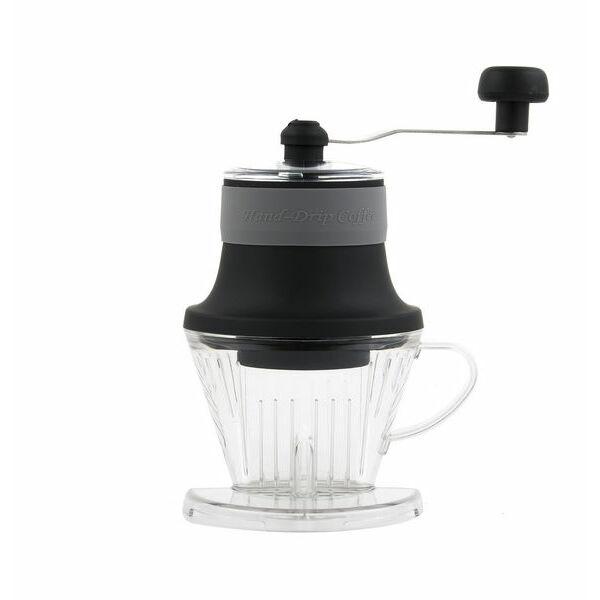 Hordozható kávédaráló és filter dripper egyben