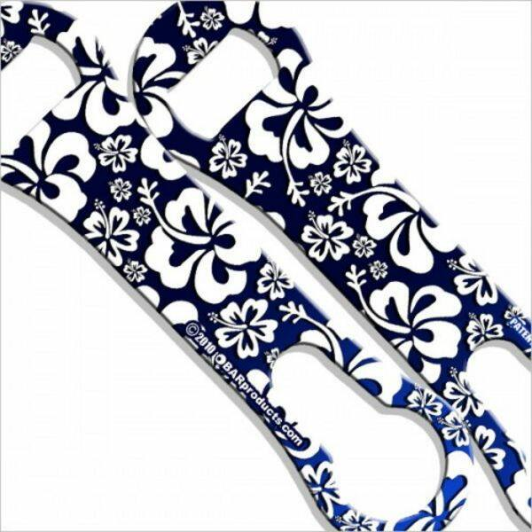 Flair nyitó metal pour kiszedővel Hawaiian Floral kék