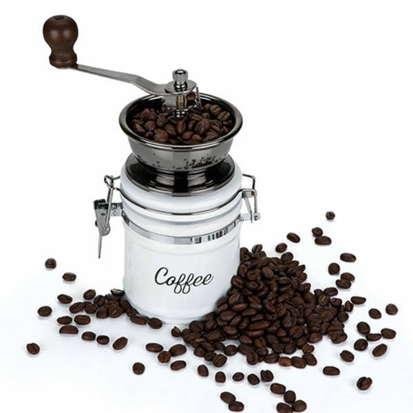 Kézi kávédaráló kávétartóval