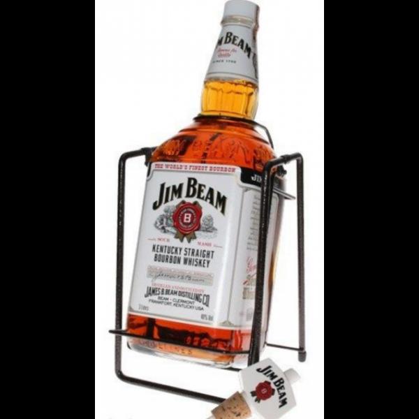 Jim Beam whisky 4,5L 40% + állvány + kiöntő