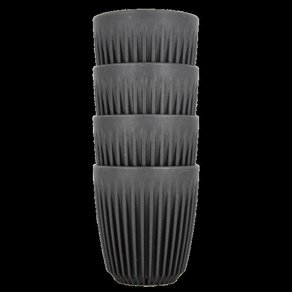 HuskeeCup pohár kávés termosz CHARCOAL 230 ml