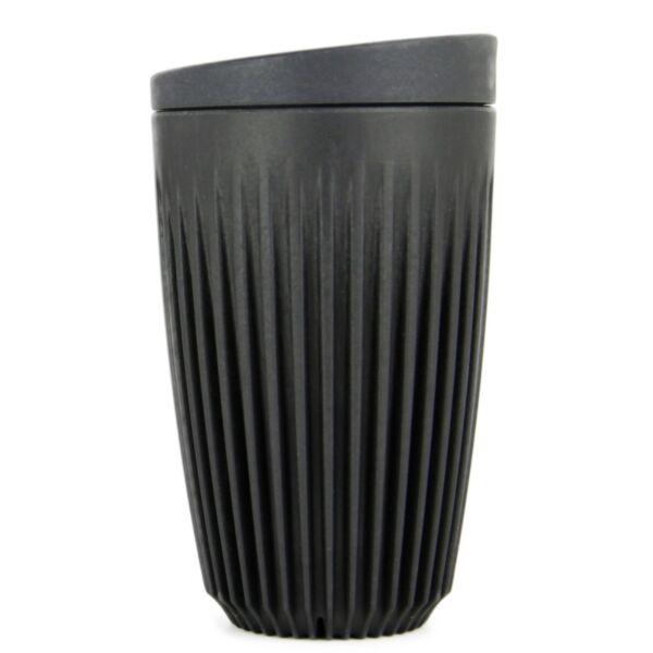 HuskeeCup pohár+tető kávés termosz CHARCOAL 350 ml