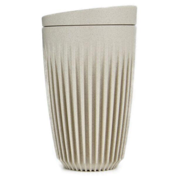 HuskeeCup pohár+tető kávés termosz NATURAL 350 ml