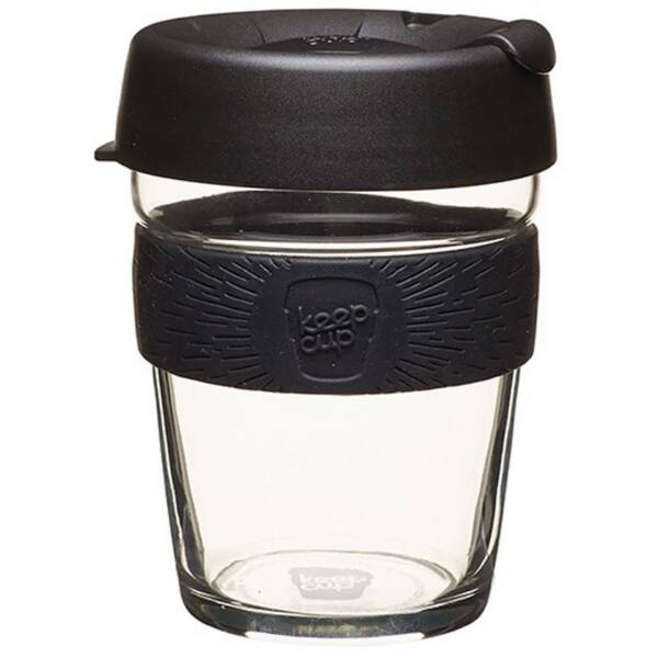 KeepCup Brew Café üveg pohár kávés termosz BLACK 360 ml