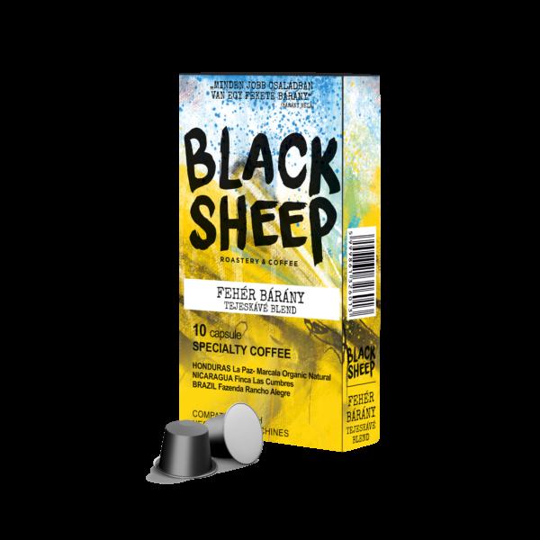 Black Sheep - Fehér Bárány Tejeskávé Blend Nespresso kompatibilis kávékapszula 10db/cs