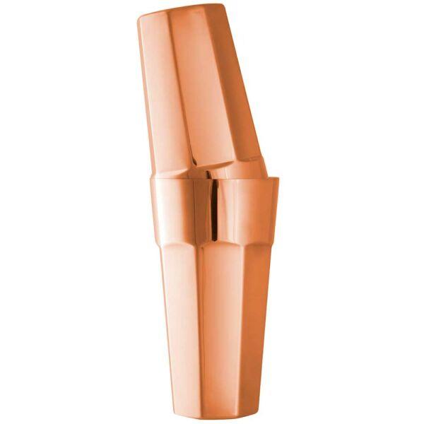 Nyolcszögletű boston shaker pohárral réz