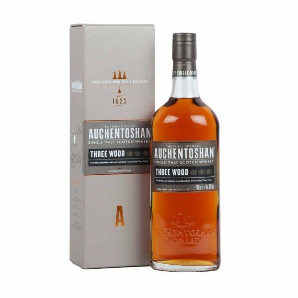 Auchentoshan Three Wood  whisky 0,7L 43% pdd.