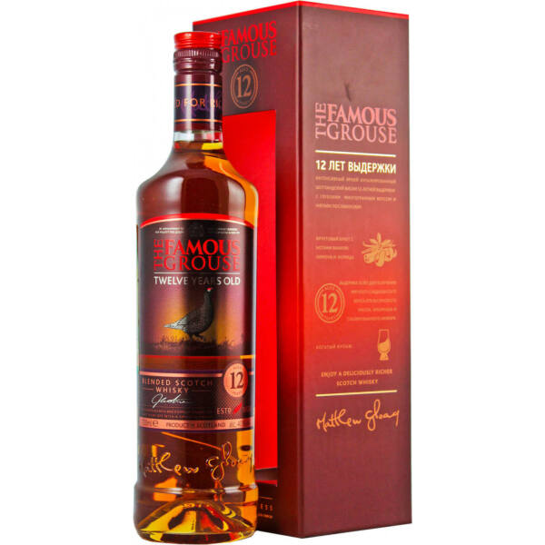Famous Grouse 12 years whisky  0,7L 40%