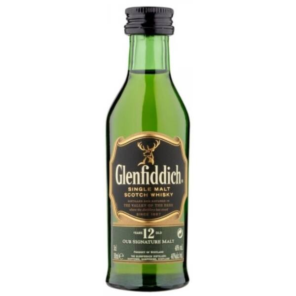Glenfiddich 12 years whisky mini 0,05L 40%