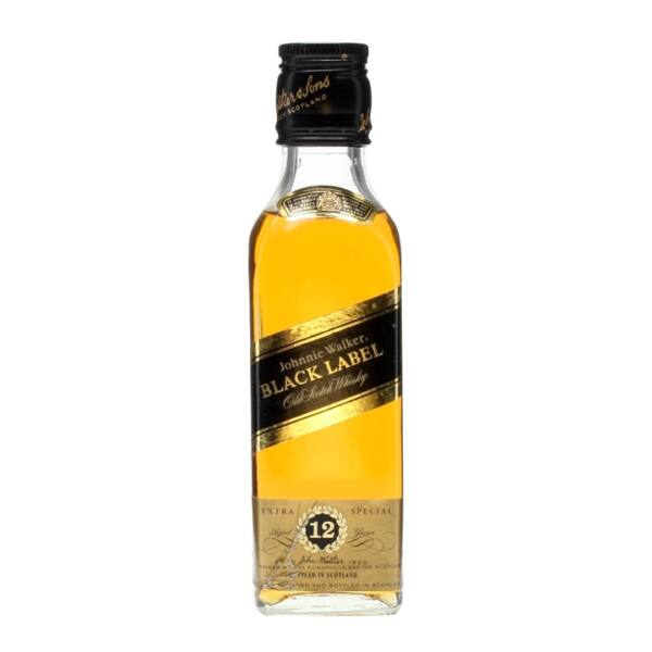 Johnnie Walker Black Label 12 years whisky mini 0,05L 40%