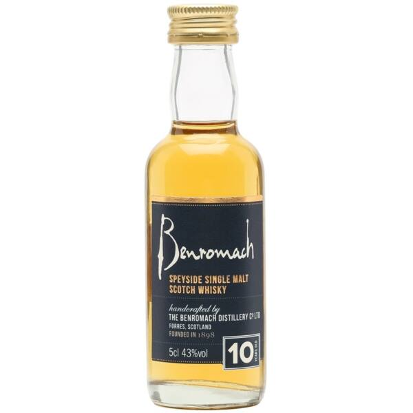 Benromach 10 years whisky mini 0,05L 43%