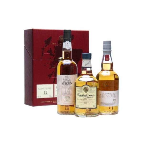 Classic Malts Collection whisky - Red 3x0,2L 42,93%