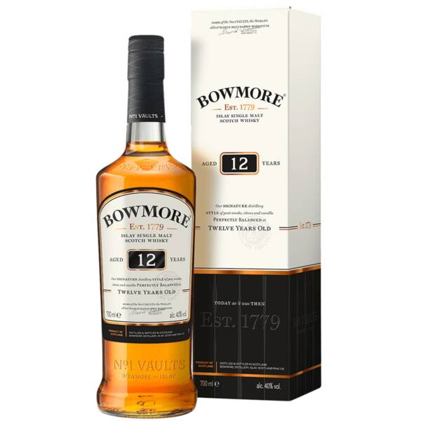 Bowmore 12 years whisky dd. 0,7L 40%