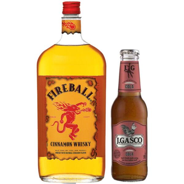 Fireball whiskylikőr 0,7L 33% + Ajándék J. Gasco Cola (0,2 l)
