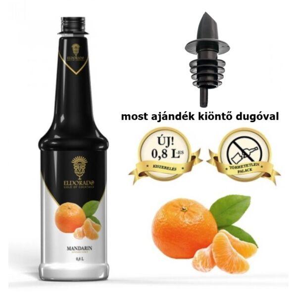 Gluténmentes Eldorado mandarin szirup 0,8 (most ajándék kiöntő dugóval)