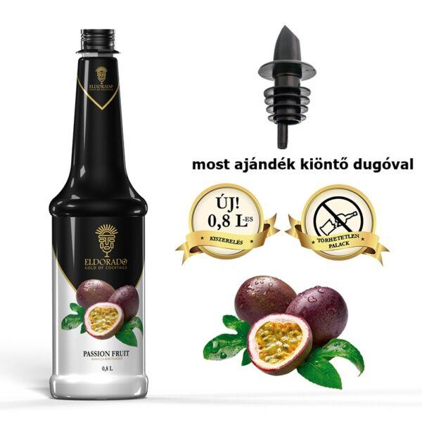 Gluténmentes Eldorado Passion fruit szirup (maracuja) 0,8 L (most ajándék kiöntő dugóval)