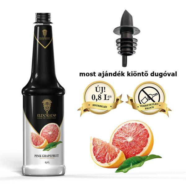 Gluténmentes Eldorado pink grapefruit szirup 0,8 (most ajándék kiöntő dugóval)
