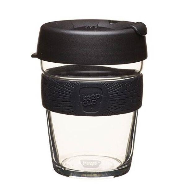 KeepCup Brew Café Black üveg pohár 360 ml