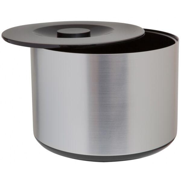 Dupla falú műanyag jégvödör alumínium hatású bevonattal 10 literes