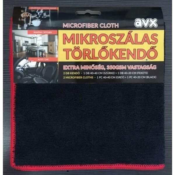 AVX PRO 40*40+40*20cm-es törlőkendő szett-Fekete/Szürke