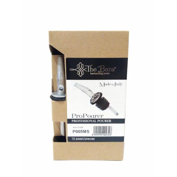 The Bars ezüst pro pour kiöntő dugó műanyag lamellákkal 12db/doboz