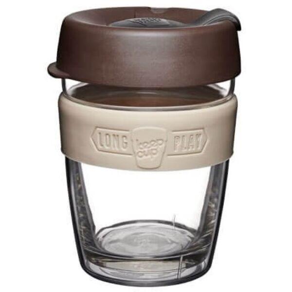 KeepCup dupla falú üveg pohár kávés/teás termosz BLEND 360 ml