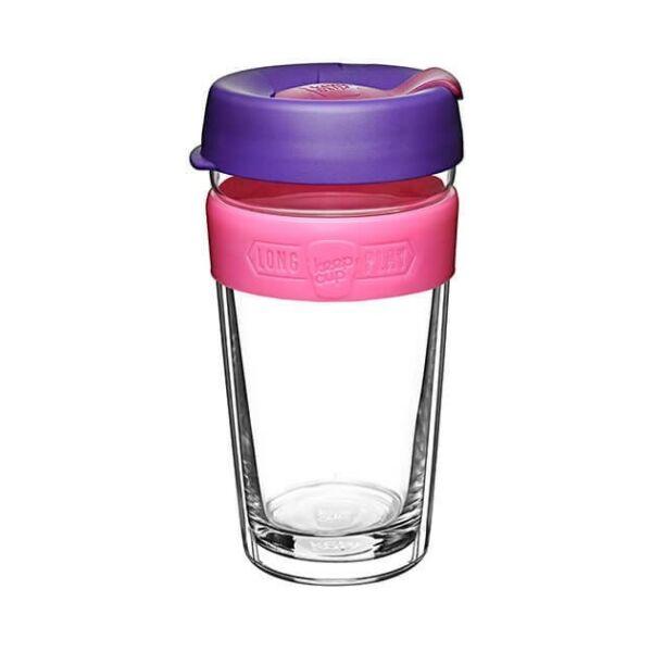 KeepCup dupla falú üveg pohár kávés/teás termosz BLOOM 480 ml