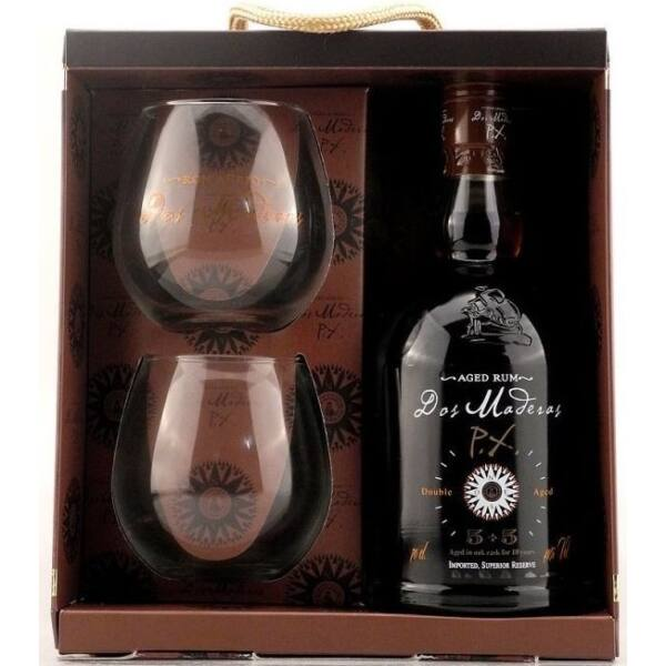 Dos Maderas PX 5+5 years rum pdd. 0,7L 40% + 2 pohár