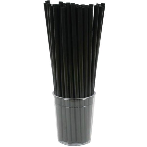 Bio PLA szívószál, lebomló és komposztálódó, környezettudatos (fekete 150 db/cs 8 mm)