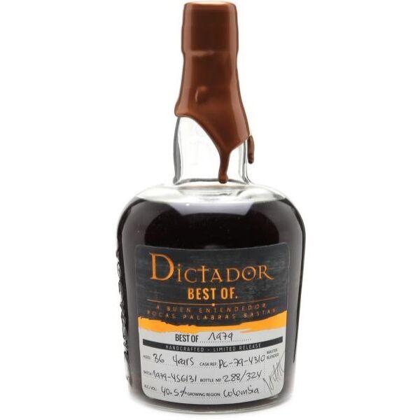 Dictador The Best of rum 1979 0,7L 44,4%