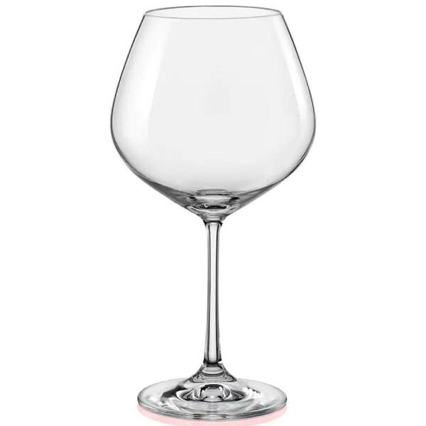 Viola vörösboros kristály pohár 570ml