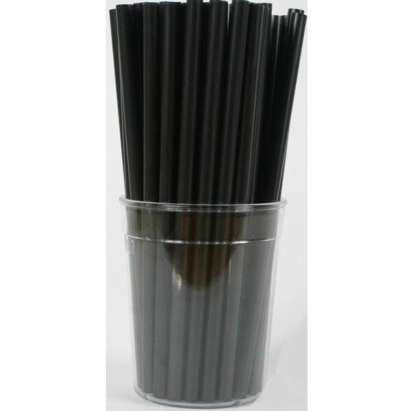 Vastag fekete szívószál 7mm 500db/cs