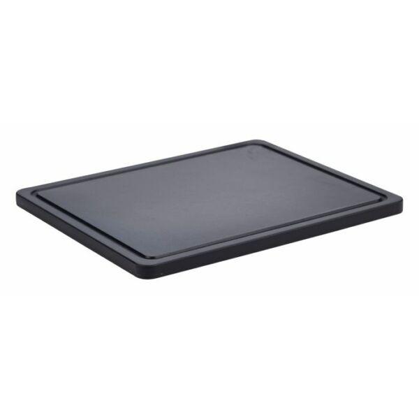 Csúszásmentes fekete vágódeszka 32.5 X 26.5 X 1.4cm