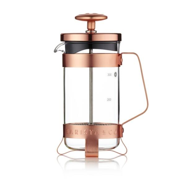 French Press 3 személyes kávé és tea készítő réz színű