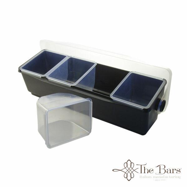 The Bars 4 fakkos gyümölcs rendszerező fekete