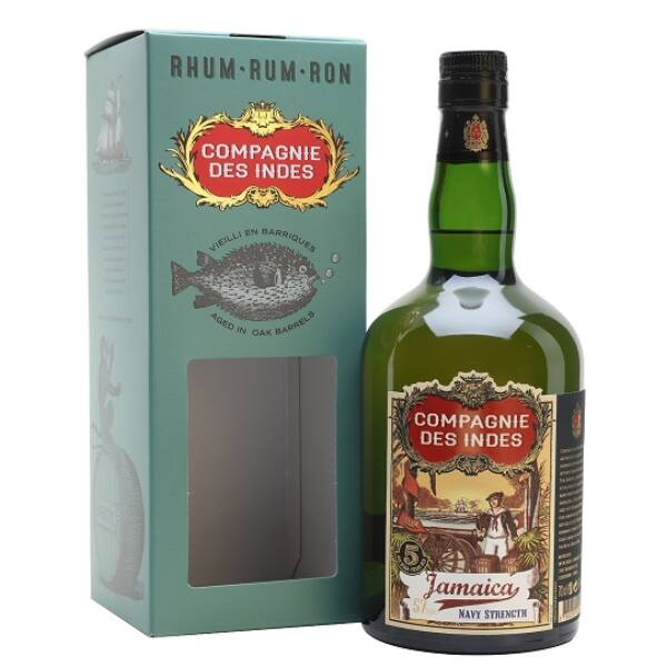 Compagnie des Indes JAMAICA Navy Strength 5 years 0,7 57% pdd.