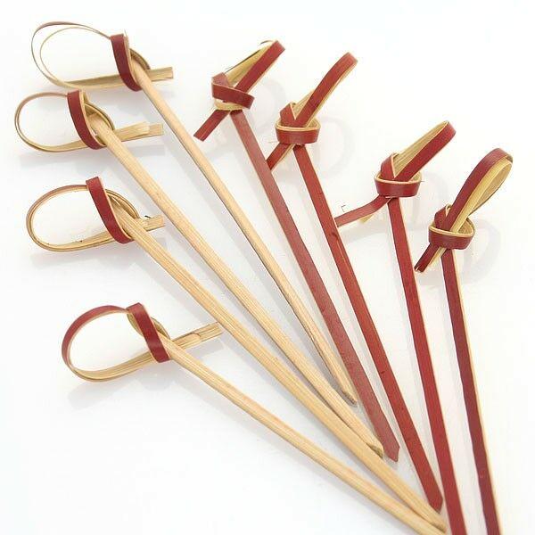 Tiki bambusz koktélnyárs 9cm 100db/cs piros