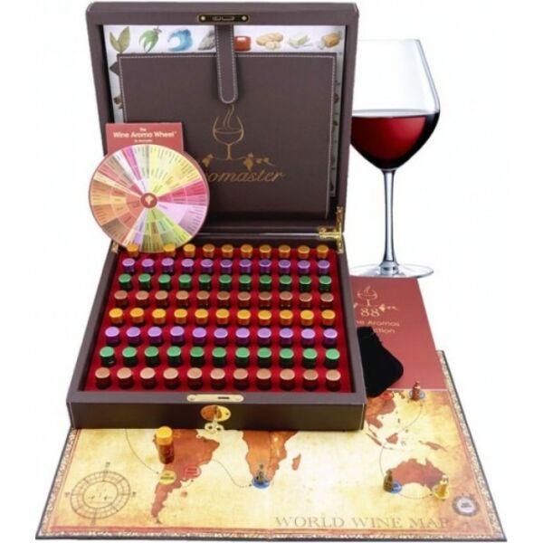 Profi Aromaster Wine Taster bor illatminta társasjátékkal 88db-os